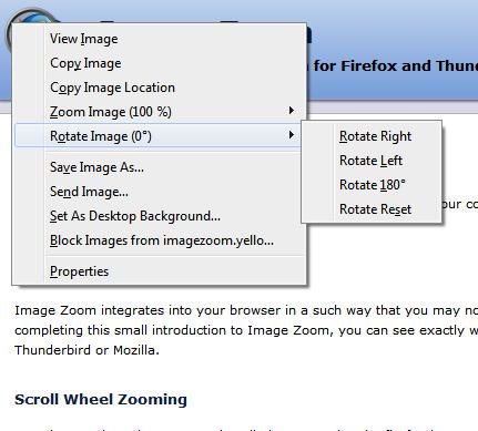 Image Zoom Context Menu