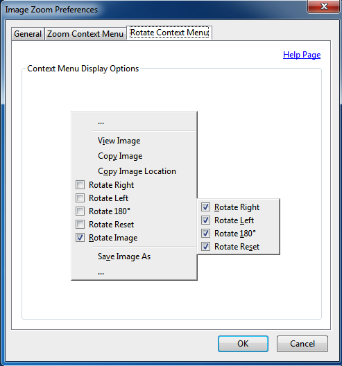 Image Zoom Options Rotate